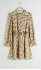 &Other Stories floral ruffled mini dress US 2