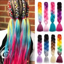 Multi Colored Afro Crochet Braid Hair Extensions Kanekalon Jumbo Braiding Ombre