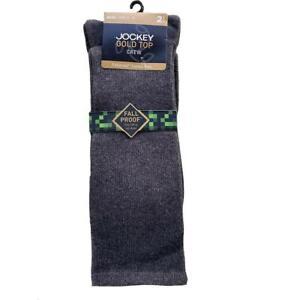 Jockey Fallproof Men's Cotton Socks (Charcoal 2 Pack)