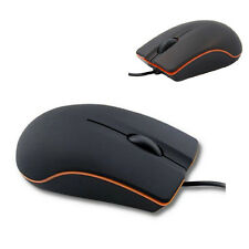 Lenovo Non-Slip 3D USB Optical Wired Mouse For Laptop Notebook Computer Black