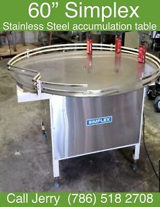 """60"""" Simplex Stainless Steel Accumulation/Turn Table"""
