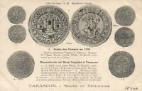 1908 VINTAGE MONEY & SEALS of GOOD KING RENE of FRANCE POSTCARD UNUSED