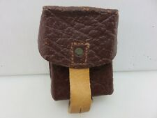 Army Military Leather Magazine Ammo Pouch Brown Vintage