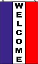 10 Pack - 3x5 Welcome Vertical Flag Banner Sign Wholesale f