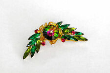 D&E Juliana Book Pc Watermelon Margarita Rhinestone Gold Filigree Brooch