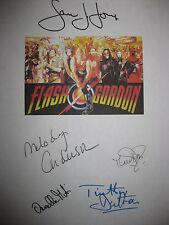Flash Gordon Signed Film Script Sam J. Jones Melody Anderson Timothy Dalton rpnt