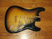 RELIC'D GUITAR BODY FITS FENDER STRATOCASTER 2 3/16th GUITAR NECK TOBACCO ALDER