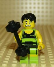 LEGO Weightlifter weight lifter barbell minifigure COLLECTIBLE SERIES 2