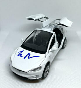 ELON MUSK SIGNED AUTOGRAPH 1:32 DIECAST TESLA MODEL X WHITE CAR - RARE ACOA JSA