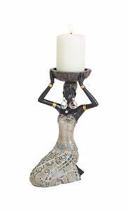 Deko Figur Skulptur AFRIKANERIN Teelichthalter H 23 cm NEU Dekoration Geschenk