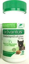 New Advantus 7.5 mg 30 Soft Chews Kills Fleas Dogs 4 to 22 Lbs Exp. 02/2022