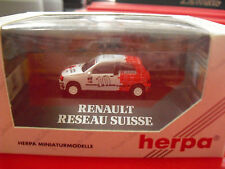 Herpa Private Collection HO 1/87 Renault Reseau Suisse Clio 16V Stucki Car NIP