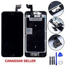 iPhone 6S 4.7 Black LCD Touch Digitizer Glass Screen Assembly Home Button Camera