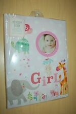 Girls Baby Memory Book Fill In to Record Events Elephant Turtle Cat Bunny New