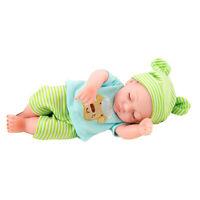 "25cm 10"" Lifelike Reborn Boy Doll Silicone Vinyl Baby Dolls with Clothes"