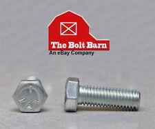 (100) 1/4-20x3/4 Grade 5 Hex Head Cap Screws Bolts Zinc Clear