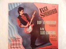 "RICK SPRINGFIELD ""Bop 'Til You Drop"" PICTURE SLEEVE! NEW! ONLY NEW COPY ON eBAY!"