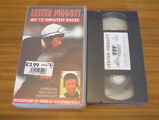 LESTER PIGGOTT - MY 12 GREATEST RACES - A PERSONAL SELECTION - VHS **NEW**