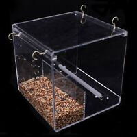 Automatic Parrot Bird Feeder No Mess Feeding Device Seed Food Container for V3E3
