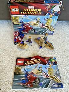 Lego Marvel Captain America Avenging Cycle Super Heroes  6865 Box & Instruction
