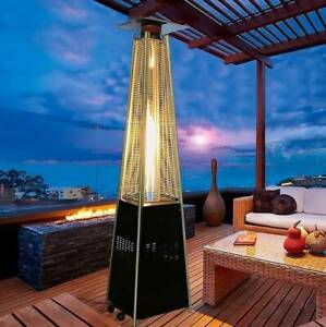 Pyramid Outdoor Patio Propane Heater with Wheels Gas Porch & Deck Stainless