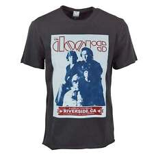 Amplified Mens The Doors Riverside Vintage Rock T Shirt Charcoal NEW