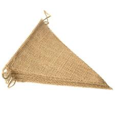 Leobro 48 Pcs Burlap Banner 36 Ft Triangle Flag Diy Decoration for Holidays