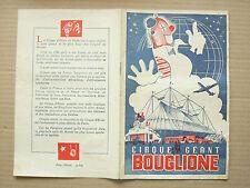 Programme Cirque  BOUGLIONE   1949 catalogue brochure prospectus