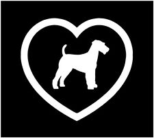 "5"" I LOVE FOX TERRIER FOXY HEART DOG ANIMAL VINYL DECAL STICKER CAR WINDOW"