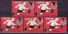 POLAND 1961 Matchbox Label - Cat.Z#220 Totek - Pools Sports - football (soccer).