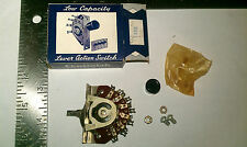 1 NOS CENTRALAB CRL 1458  2 position 4 POLE LOW CAPACITY LEVER ACTION SWITCH
