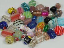 Perle di Vetro mix all'ingrosso x 100 vari colori, forme, finiture, India, TUMI