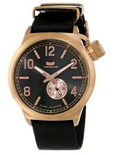 Vestal Unisex CAN3N06 Canteen Zulu Black Rose Gold Watch