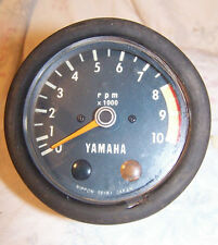 Yamaha Streetbike Motorcycle Tachometer 10000 RPM Tach Gauge Used Old Stock 80's