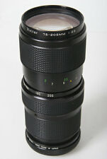 Vivitar 75-205mm F/3.8 Telephoto Zoom lente. Nikon AI SUPPORTO - FOCUS MANUALE