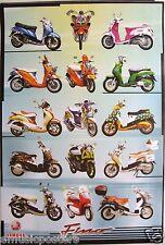 "YAMAHA MOTORCYCLES POSTER ""YAHAMA FINO, VERTICAL""  MOTORBIKES"