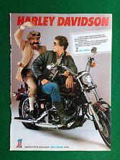 PV129 Pubblicità Advertising Clipping (1980) 31x23 cm - MOTO HARLEY DAVIDSON