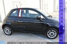 GTG 2012 - 2015 Fiat 500 2PC Chrome Stainless Steel Pillars Posts