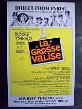 LA GROSSE VALISE Window Card RONALD FRASER / ROBERT DHERY Tryout BOSTON Flop `65