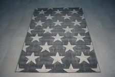 Quality Modern Dark Grey Star's Rug 80cm x 150cm 8mm Thick Star Rug Star Retro