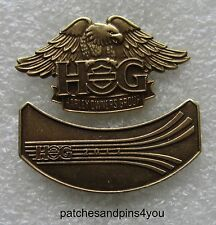 Harley Davidson HOG New Style Eagle Pin + 2017 HOG Pin. NEW! FREE U.K. POSTAGE!