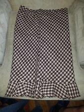 Small Moda International Straight Pencil Skirt New Pink Brown Tweed Ruffled Sz 6