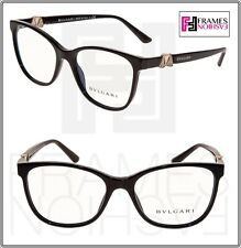 BVLGARI Diva 4118 Black Gold RX Luxury Eyeglasses BV4118B Rhinestone Authentic
