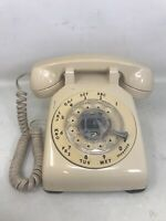 FOR PARTs VTG Western Electric Rotary Phone Bell Systems Beige NOT WORKING READ
