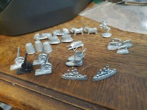 Vintage MONOPOLY TOKENS /Game PIECES -Lot of 23 -All Metal