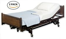 2PK MEDICAL BEDDING IVORY SOFT FITTED HOSPITAL BED BOTTOM SHEET HEALTH CARE
