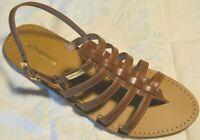 ZOR- LES TROPEZIENNES sandales cuir HERILO MARRON  EN PROMO !!!!