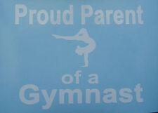 Sports,Gymnast,Gymnastics,Olympics,Parents White,Pink,or Soft Pink Vinyl Decalls