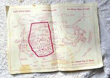 VINTAGE UNBIASED CARTOON MAP ALBERTA LAZY SUSAN GRILL HILARIOUS OIL SKI 1950's