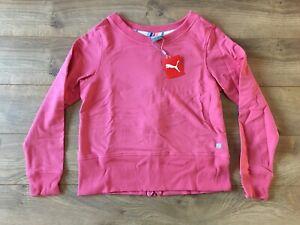 2020 Puma Women's Crew Back Zip Fleece Rapture Rose Pink SZ S ( 595849 04 )